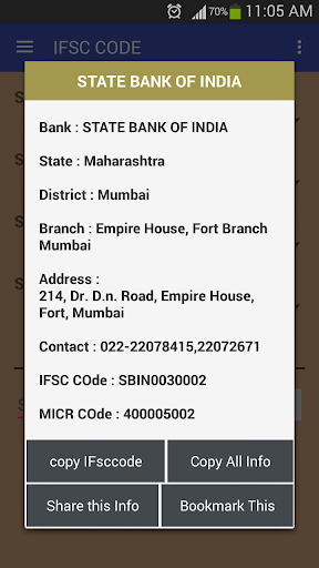 citibank india fort ifsc code