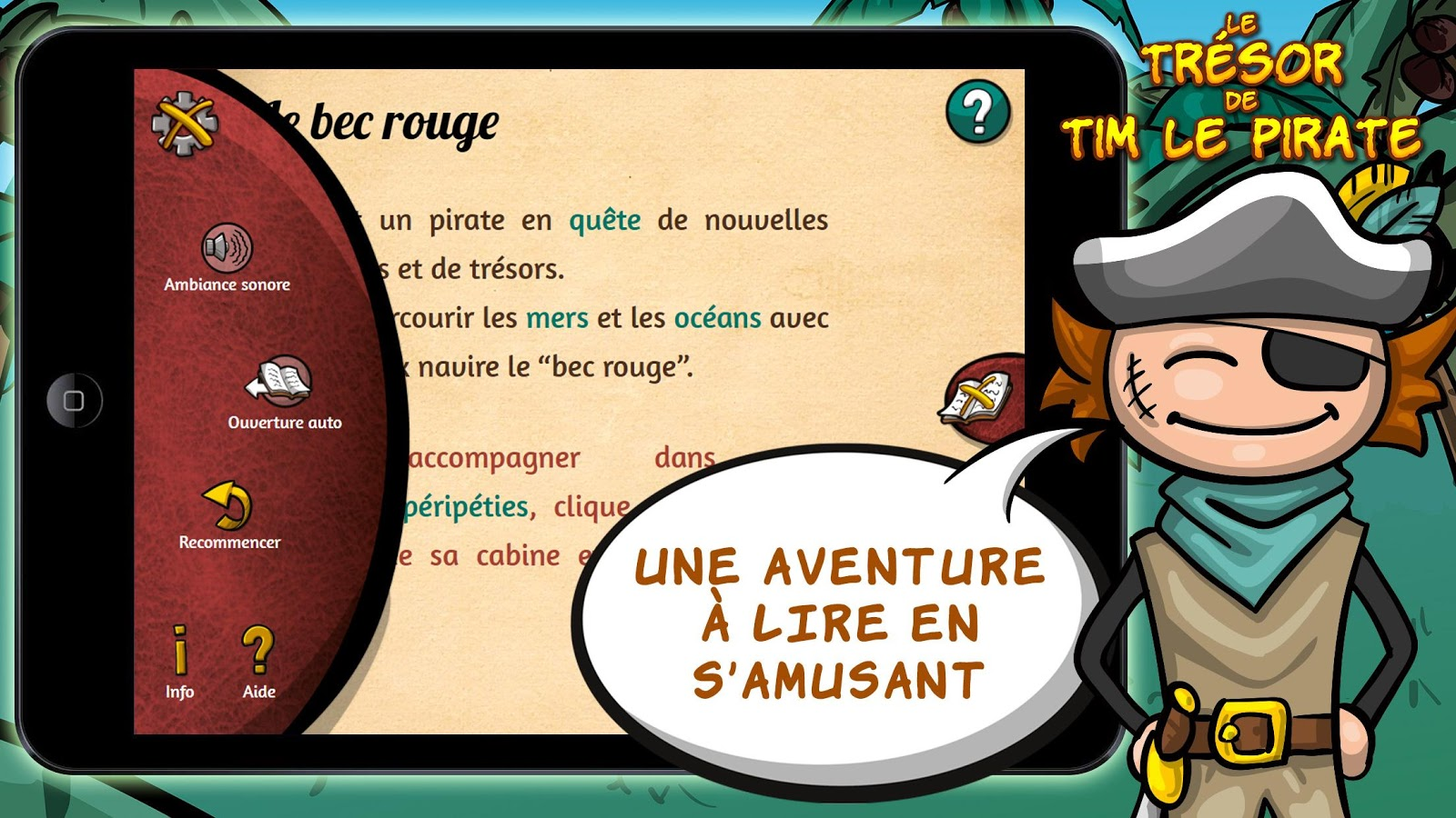 Le trésor de Tim le pirate – Capture d'écran