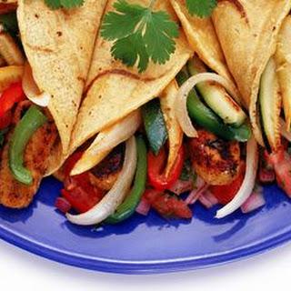 Vegetarian Tempeh Fajitas Wrapped in a Flour Tortilla Recipe