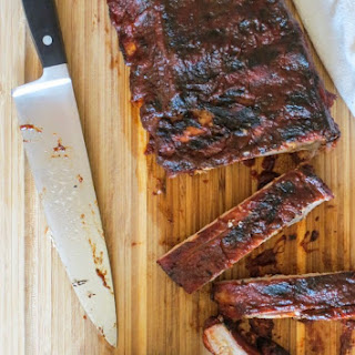 Pork Ribs with Coffee Molasses BBQ Sauce Recipe