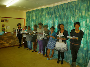 Photo: Motherwell's young women sang a hymn for us at our Farewell Party.