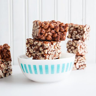 Chewy Chocolate Puffed Wheat Squares
