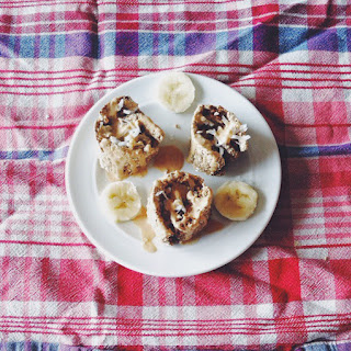 Banana Peanut Butter Caramel Cinnamon Rolls