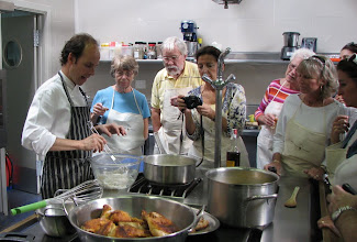 Photo: Cooking class at the Costa Brava Center -- a excellent culinary school.
