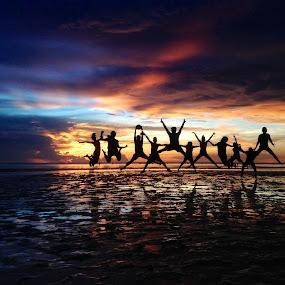 Twilight Jump! by Dickson   Shia - People Street & Candids ( sunset, action, teens,  )
