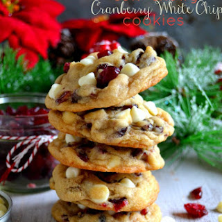 The BEST Soft & Chewy Cranberry White Chocolate Chip Cookies Recipe