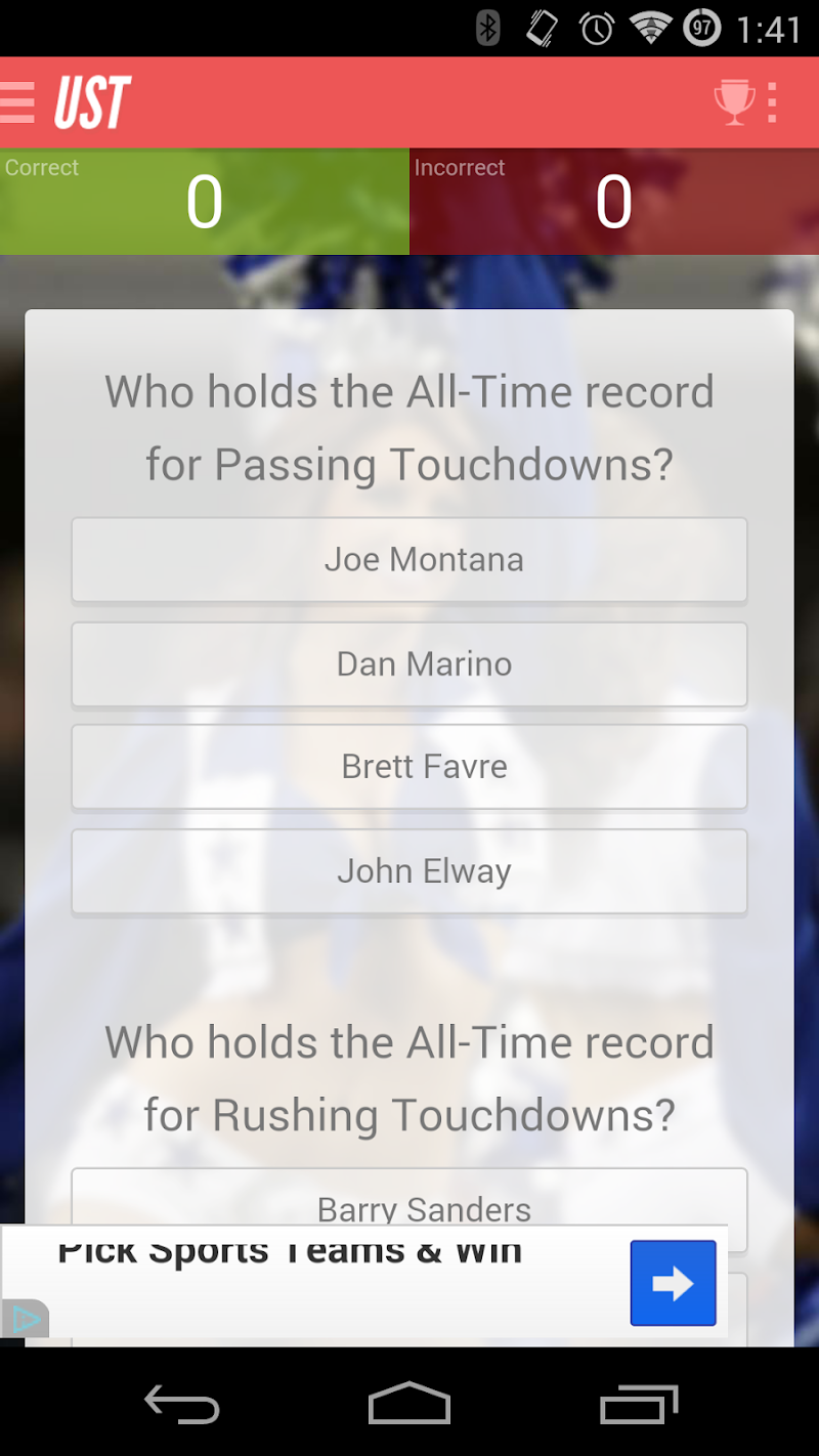 Скриншот Ultimate Sports Trivia & Quiz