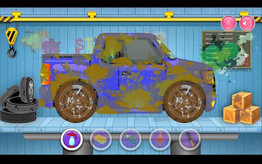 子供の洗車サロン