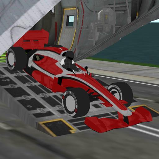 formula racing car cargo plane