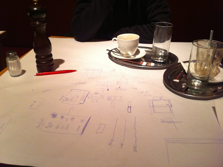 Photo: Nightly UX scribbling