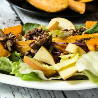 Salad with Sweet Potato and Apple