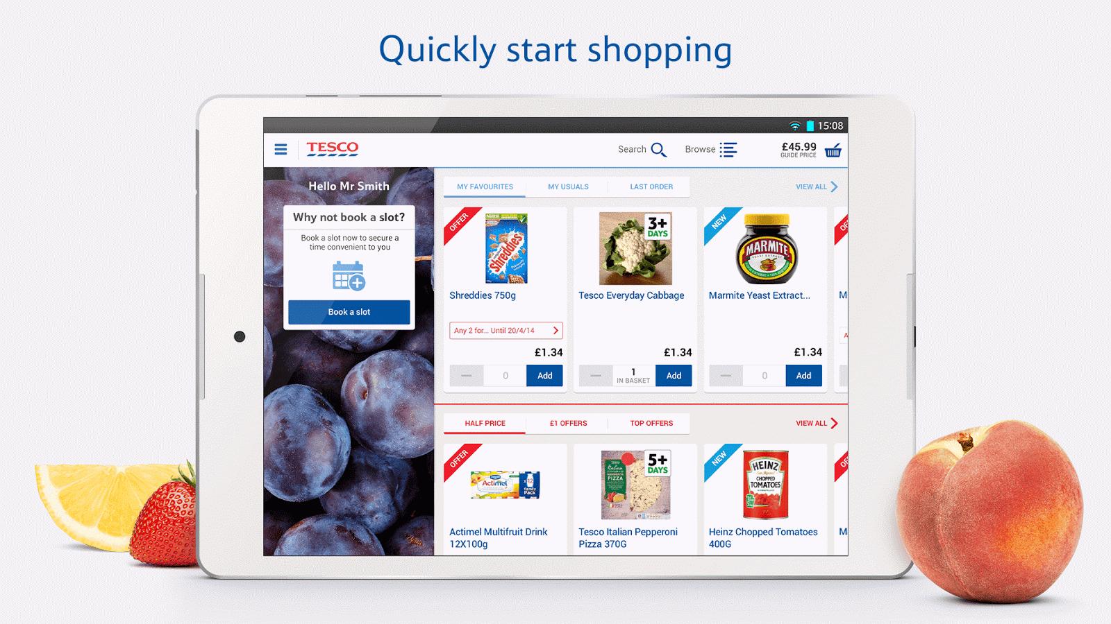 tesco shopping list app