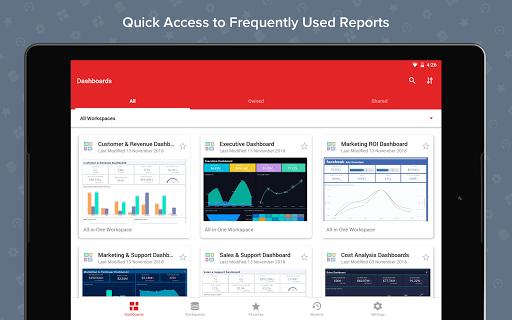Zoho Analytics – Mobile BI Dashboards screenshot 6
