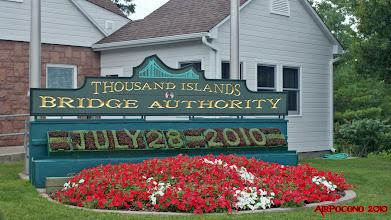 Photo: we cross at the Thousand Islands Bridge