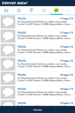 Consumo de Internet- screenshot