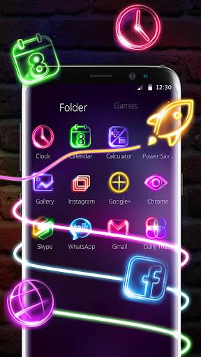 Neon Light Launcher 5.64.10 screenshots 3
