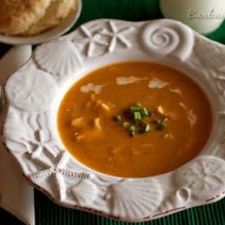 Butternut Squash Soup with Chicken and Orzo