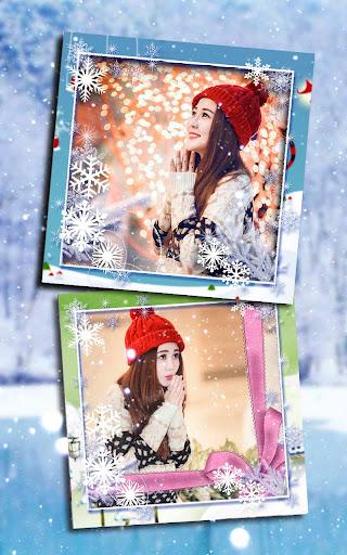 無料摄影Appの冬のフォトフレームのコラージュ|記事Game
