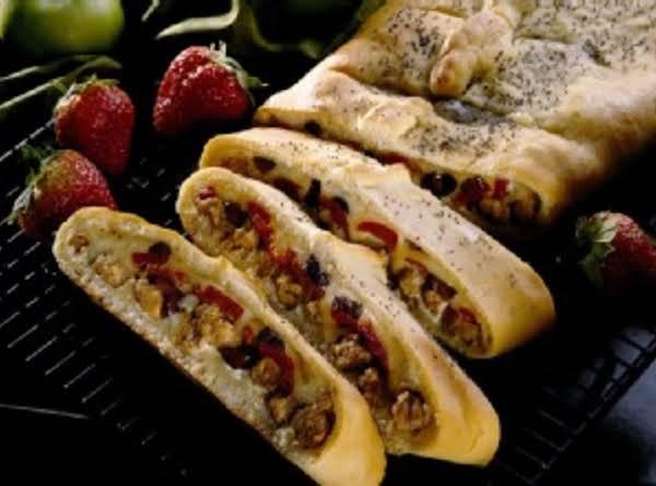 Italian Sausage Stromboli Appetizers Recipe