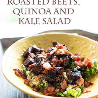 Balsamic Roasted Beets, Quinoa and Kale Salad