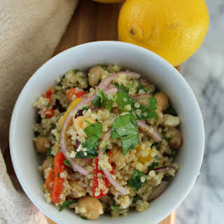 Quinoa Salad with Roasted Peppers - Gluten-Free.
