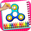 Fidget Spinner Coloring Book For Kids icon
