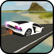 Free Fall Jungle Mega Car Ramps 3D Stunts