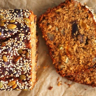 Date, Apricot & Pecan Seed Bread.