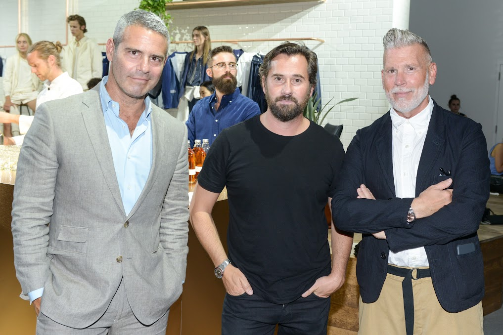Andy Cohen, Designer Christopher Bastin and Nick Wooster