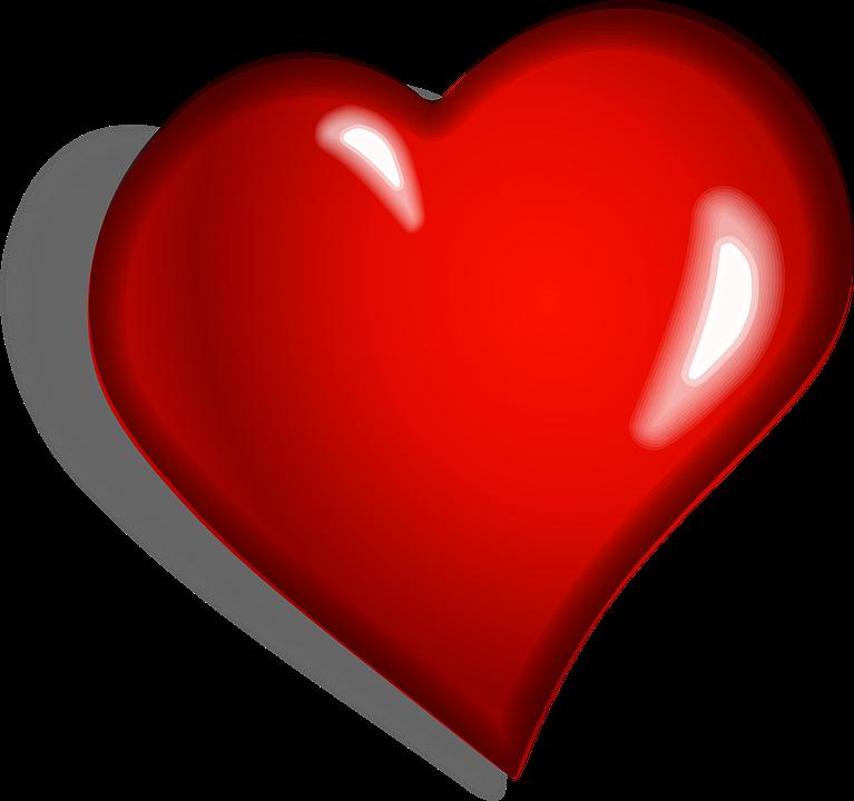 Corazón, Rojo, Emocional ...