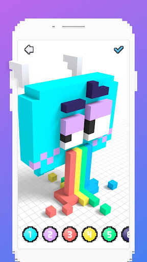 Voxel - 3D Color by Number & Pixel Coloring Book 2.4 screenshots 6