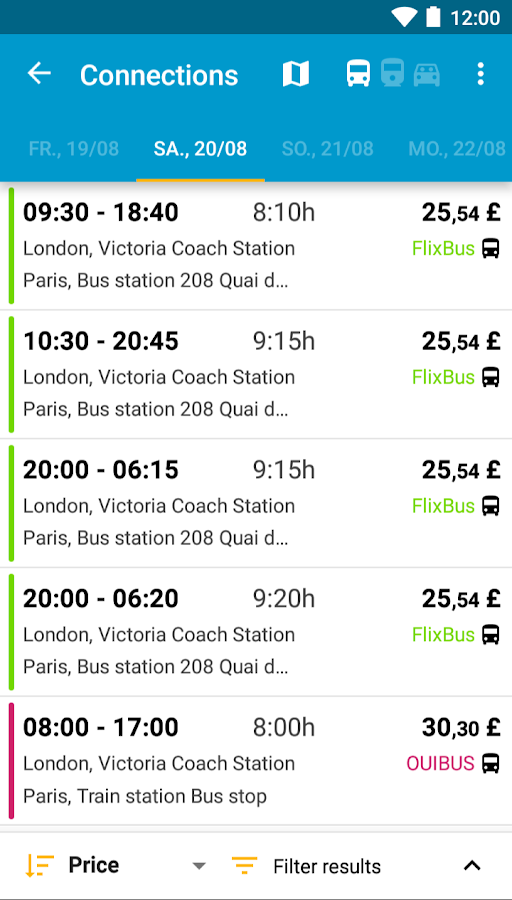 Busradar: Bus Trip App- screenshot