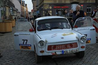 Photo: Im Ziel mit Alfred Gorny im Gespräch Foto: Sven Unger