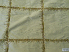 "Photo: <> STYLE JSE-03 NATURAL <> WIDTH 54"" <> 100% SILK EMB. ON  SHANTUNG <> PRICE $25.45/YRD <>"