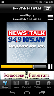News/Talk 94.9 WSJM- screenshot thumbnail