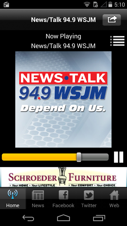 News/Talk 94.9 WSJM- screenshot