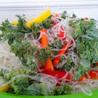 Coconut Lime Kelp Noodle Salad.