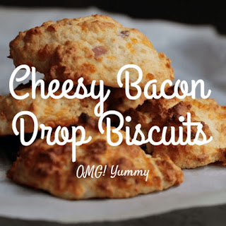 Cheesy Yogurt Drop Biscuits with Bacon