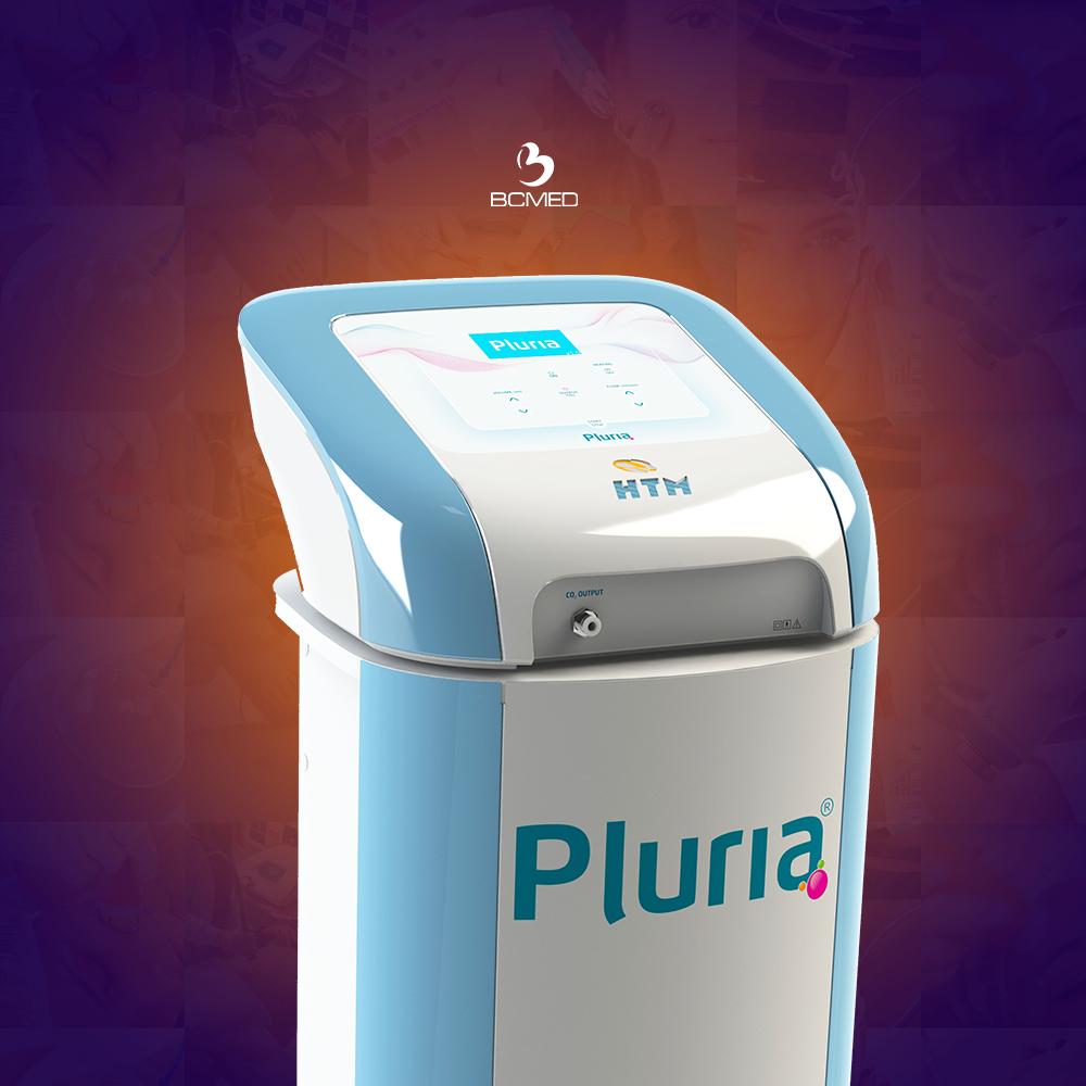 O Pluria é um aparelho de carboxiterapia da HTM