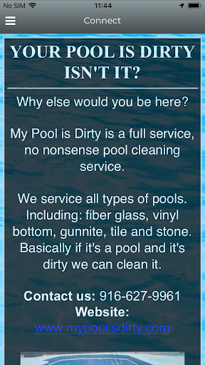 Screenshot for My Pool Is Dirty.com in United States Play Store