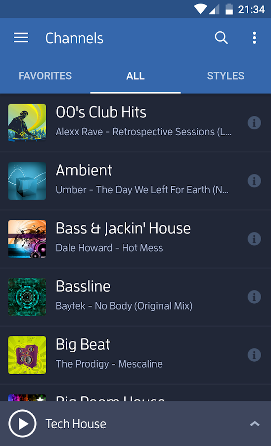 Screenshots of Digitally Imported Radio for iPhone