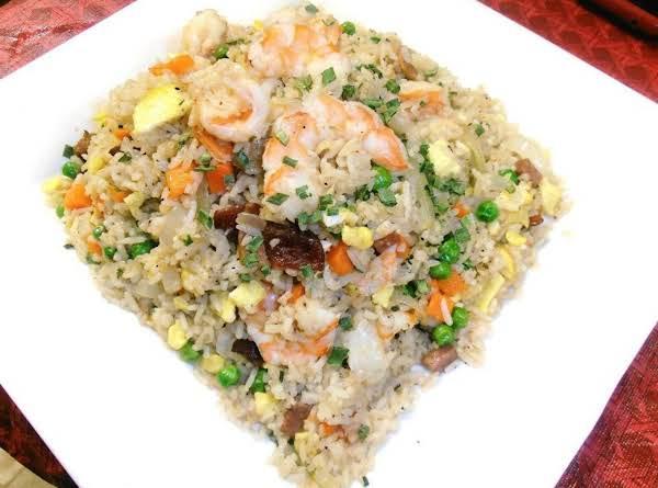 Shrimp, Spam & Bacon Fried Rice Recipe