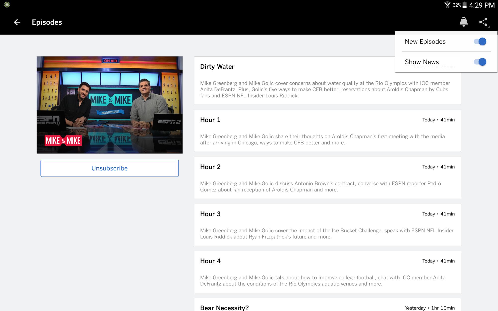 ESPN screenshot #12
