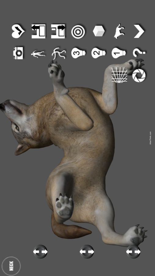 Wolf Pose Tool 3D- screenshot