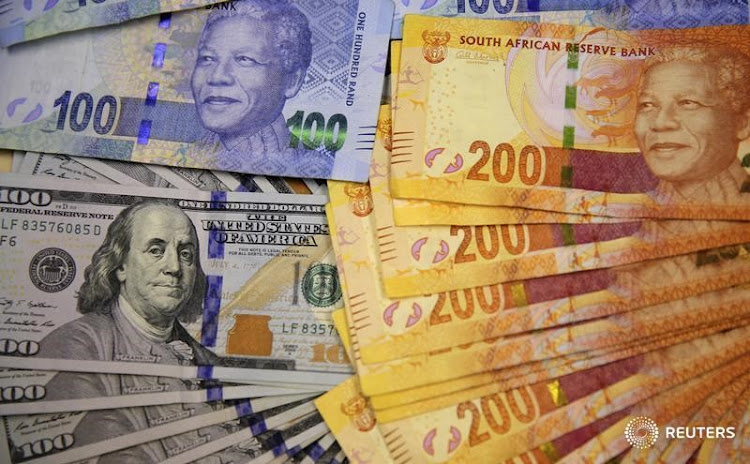 The dollar and the rand. Picture: REUTERS/ SIPHIWE SIBEKO