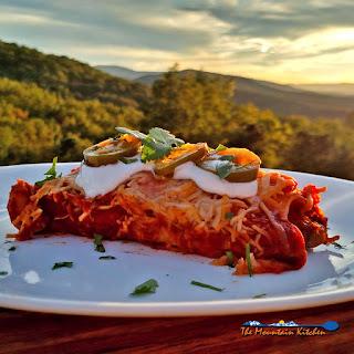 Steak & Refried Bean Enchiladas.