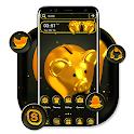 Golden Piggy Bank Theme icon