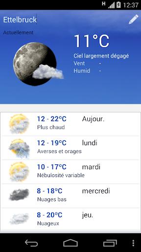 Meteo Luxembourg screenshot 1