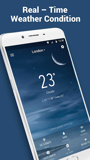 Flip Clock & Weather New 2017 app (apk) free download for Android/PC/Windows screenshot