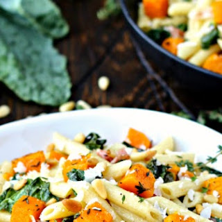 Penne with Roasted Butternut Squash and Kale